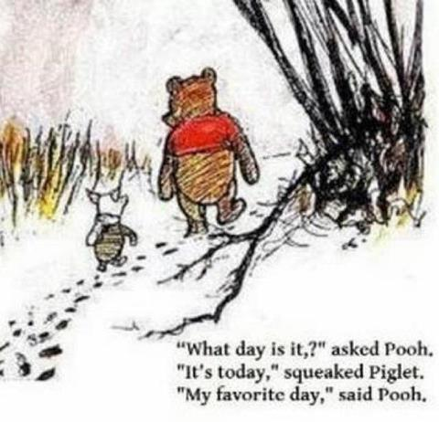 My favourite day-Winnie the Pooh Quote-Quote of the day-Winnie the Pooh and Piglet-Posted-on-Holly-Main-Comic-and-Illustration-Blog